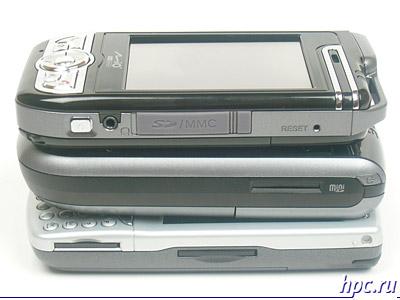 Mio A700, E-Ten G500 и HP iPAQ hw6515: правый торец