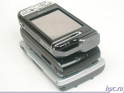 Mio A700, E-Ten G500 и HP iPAQ hw6515: верхний торец