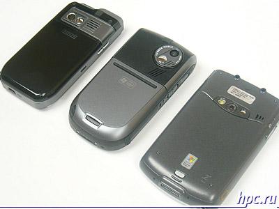 Слева направо: Mio A700, E-Ten G500 и HP iPAQ hw6515