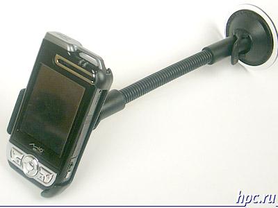 Mio A700 в автомобильном держателе