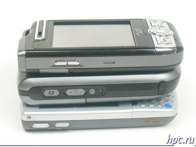 Mio A700, E-Ten G500 и HP iPAQ hw6515: левый торец