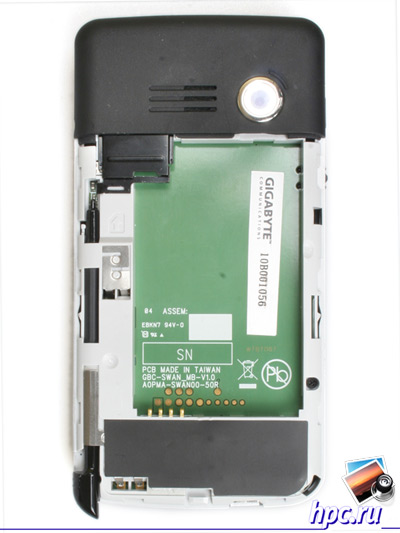 Gigabyte GSmart MW700: слот для SIM-карты
