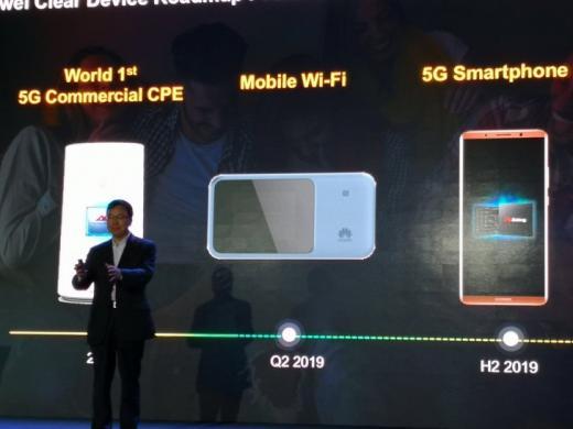 5G-смартфон отHuawei поступит в реализацию втечении следующего года
