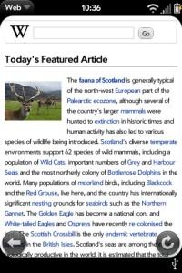Мобильная версия Wikipedia