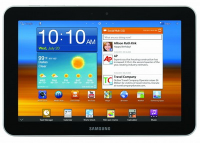 Samsung представил Galaxy Tab 8.9, Player 4.0 и 5.0