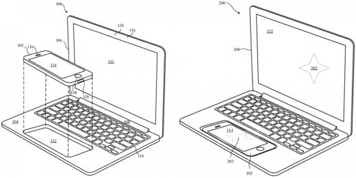 Новый патент Apple превращает iPhone в ноутбук
