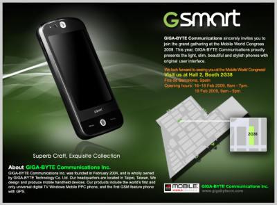 GigaByte Communications готовит новый GSmart